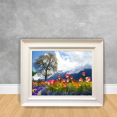Quadro-Decorativo-Campo-com-Flores-Coloridas