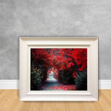 Quadro-Decorativo-Floresta-com-Arvores-Vermelhas