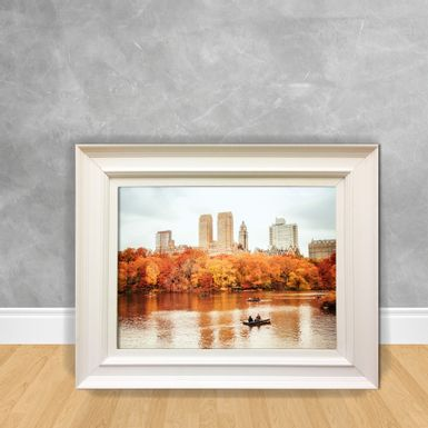 Quadro-Decorativo-Canvas-Lago-com-Barcos