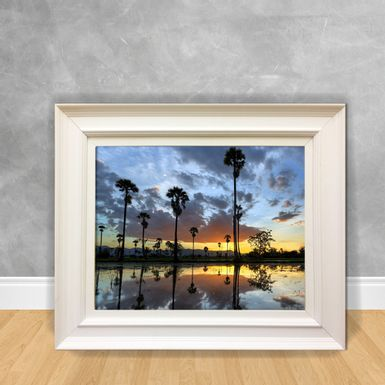 Quadro-Decorativo-Canvas-Reflexo-da-Lagoa