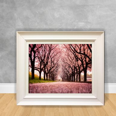 Quadro-Decorativo-Canvas-Floresta-Rosa