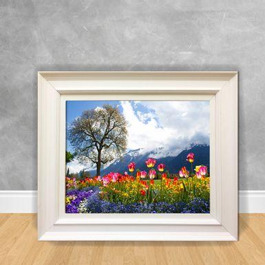 Quadro-Decorativo-Canvas-Campo-com-Flores-Coloridas