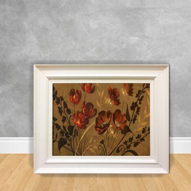 Quadro-Decorativo-Canvas-Flor-Marrom