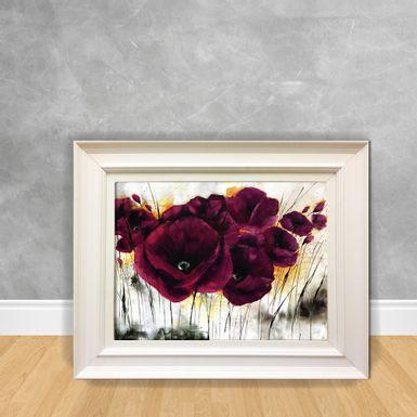 Quadro-Decorativo-Flor-Roxa-e-Branca