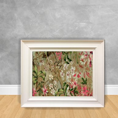 Quadro-Decorativo-Canvas-Flor-Selva-Rosa