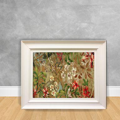 Quadro-Decorativo-Canvas-Flor-Selva-Vermelha
