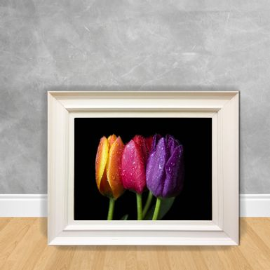 Quadro-Decorativo-Canvas-Flor-Trio-Color