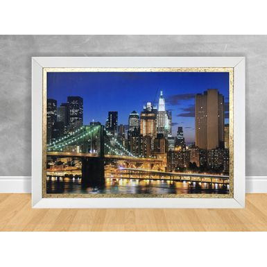 Quadro-Decorativo-Ponte-Lateral-de-Nova-York-com-Cristais