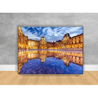 Quadro-Decorativo-Louvre-Paris-com-Chassi