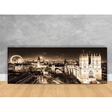 Quadro-Decorativo-Londres-Sepia-com-Chassi