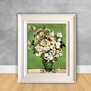 Quadro-Decorativo-Van-Gogh---A-Vase-of-Roses