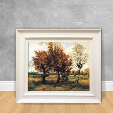 Quadro-Decorativo-Van-Gogh---Autum-Landscape-With-Four-Trees