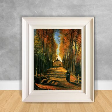 Quadro-Decorativo-Van-Gogh---Avenue-of-Poplars-at-Sunset