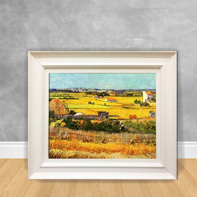 Quadro-Decorativo-Van-Gogh---Harvest-at-la-Crau