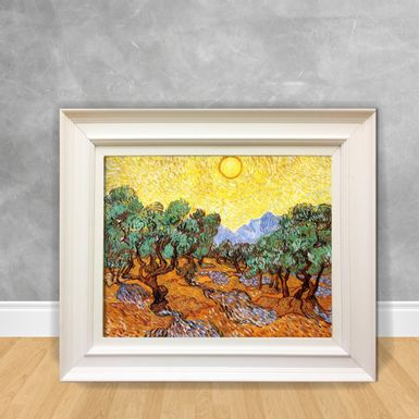 Quadro-Decorativo-Van-Gogh---Olive-Trees-With-Yellow-Sky