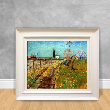 Quadro-Decorativo-Van-Gogh---Path-Throug-a-Field-With-Willows