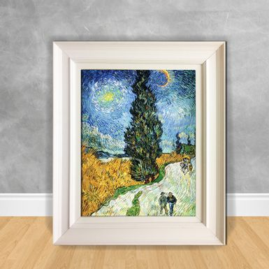 Quadro-Decorativo-Van-Gogh---Road-With-Cypresses