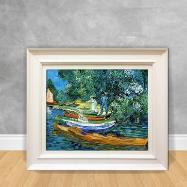 Quadro-Decorativo-Van-Gogh---Rowing-Boats-on-the-Banks