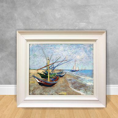 Quadro-Decorativo-Van-Gogh---Vissers-Boten