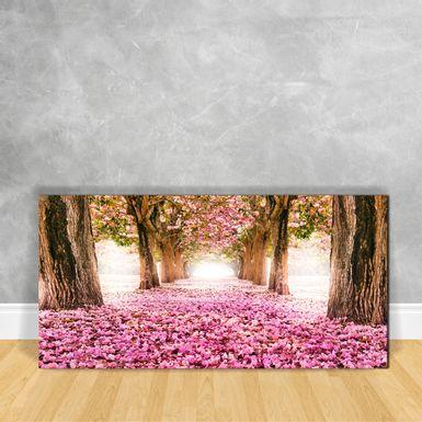Quadro-em-Vidro---Floresta-com-Rosas-ao-Chao