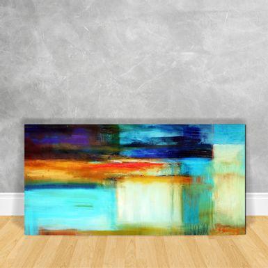 Quadro-em-Vidro---Abstrato-Tons-de-Azul