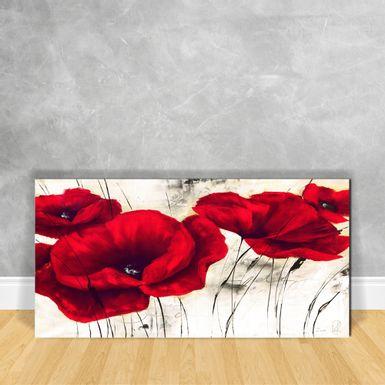 Quadro-em-Vidro---Flor-Vermelha-e-Branca