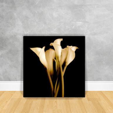 Quadro-Impressao-em-Vidro---Floral-Sepia-N9B