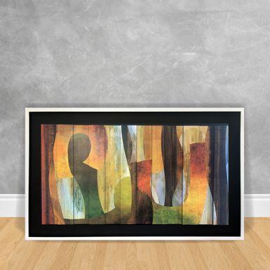 Quadro-Decorativo-Estilo-3D---Abstrato-Tons-Amarelos-e-Verdes-