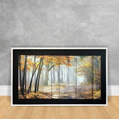 Quadro-Decorativo-Estilo-3D---Floresta-Com-Tom-Amarelo-