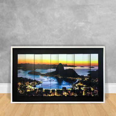 Quadro-Decorativo-Estilo-3D---Rio-de-Janeiro-Entardecer-