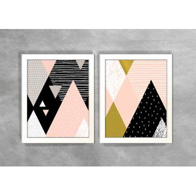 Conjunto-de-Dois-Quadros-Abstratos-Escandinavos-Geometricos-Triangulos-2