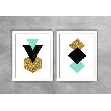 Conjunto-de-Dois-Quadros-Abstratos-Escandinavos-Geometricos-Triangulos-e-Losangos-2