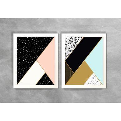 Conjunto-de-Dois-Quadros-Abstratos-Escandinavos-Geometricos-Triangulos-e-Linhas-2