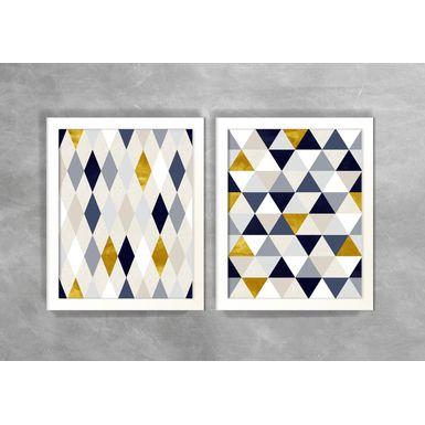 Conjunto-de-Dois-Quadros-Abstratos-Escandinavos-Geometricos-Mini-Triangulos-e-Losangos