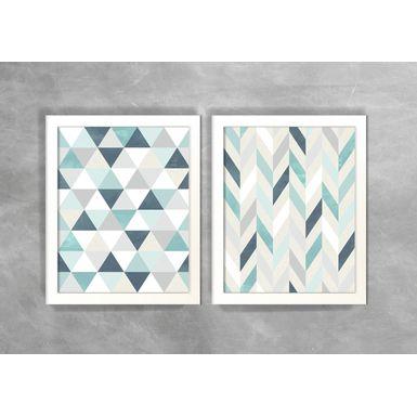 Conjunto-de-Dois-Quadros-Abstratos-Escandinavos-Geometricos-Mini-Triangulos-e-Linhas