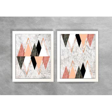 Conjunto-de-Dois-Quadros-Abstratos-Escandinavos-Geometricos-Triangulos-e-Baloes