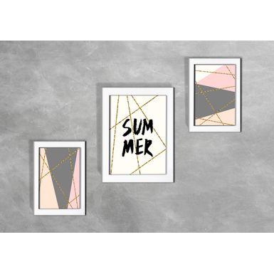 Kit-de-3-Quadros-Escandinavos-Summer-Geometrico-