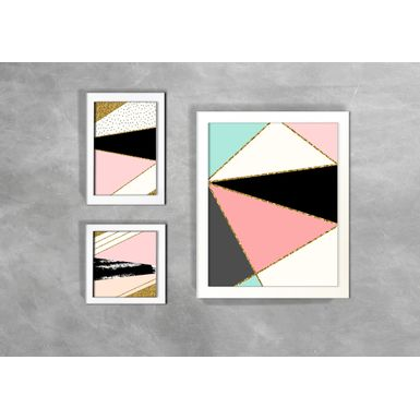 Kit-de-3-Quadros-Escandinavos-Abstratos-Triangulos-e-Setas-