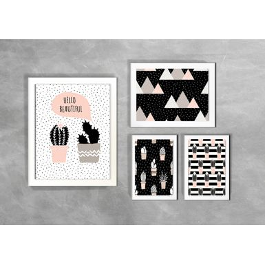 Kit-de-4-Quadros-Escandinavos-Hello-Beautiful-