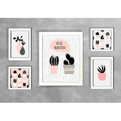 Kit-de-5-Quadros-Escandinavos-Hello-Beautiful-
