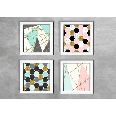 Kit-de-4-Quadros-Escandinavos-Abstratos-e-Linhas-Tracadas-