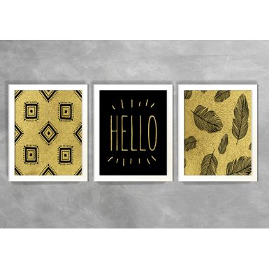 Kit-de-3-Quadros-Escandinavos-Hello-