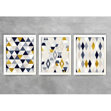 Kit-de-3-Quadros-Escandinavos-Triangulos-