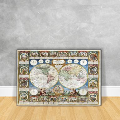 Quadro-Impressao-em-Vidro-Mappe-Monde---Generale-De-La-Terra-