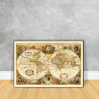 Quadro-Impressao-em-Vidro-Mapa---Geographica-Hydrographica-Tabvla-