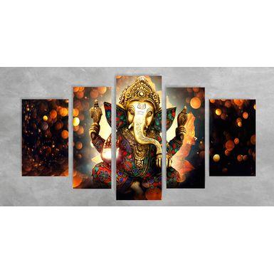 Quadro Impressão em Vidro - Ganesha