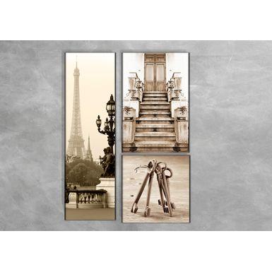 Quadro-Impressao-em-Vidro---Torre-Eiffel-Escada-