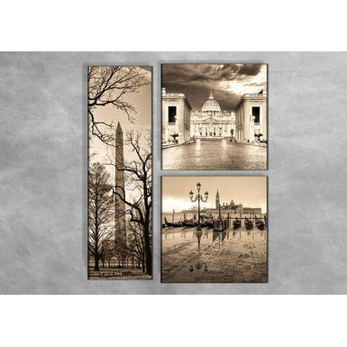 Quadro-Impressao-em-Vidro---Vaticano-e-Veneza-