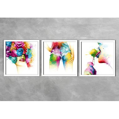 Kit-de-3-Quadros-Corpo-Abstrato-