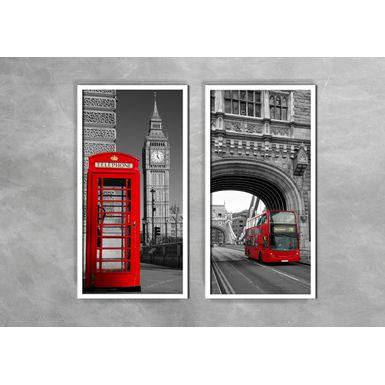 Quadro-Decorativo-Telefone-e-Onibus-Vermelho-